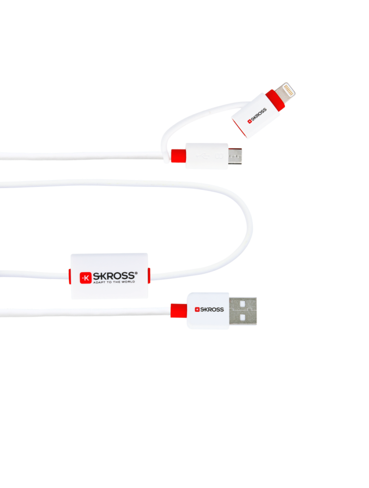 BUZZ - Alarm Kabel 2in1 Micro USB & Lightning Connector