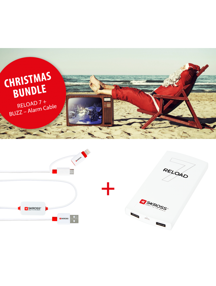 Big Christmas-Bundle: 2 x RELOAD 7 + 2 x BUZZ 2in1 - Alarm Cable + free Power Case + free shipping*