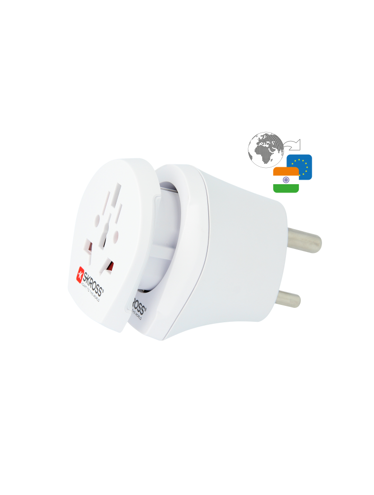 Länderreiseadapter Combo World to India