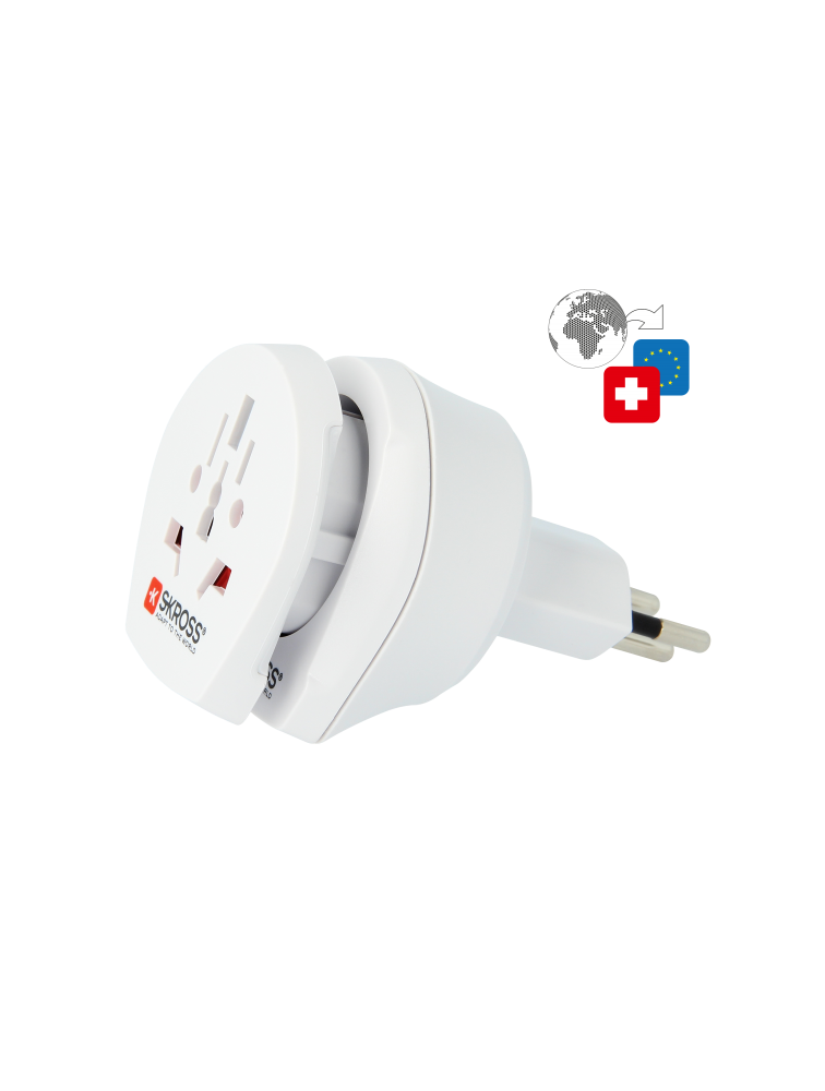Länderreiseadapter Combo World to Switzerland