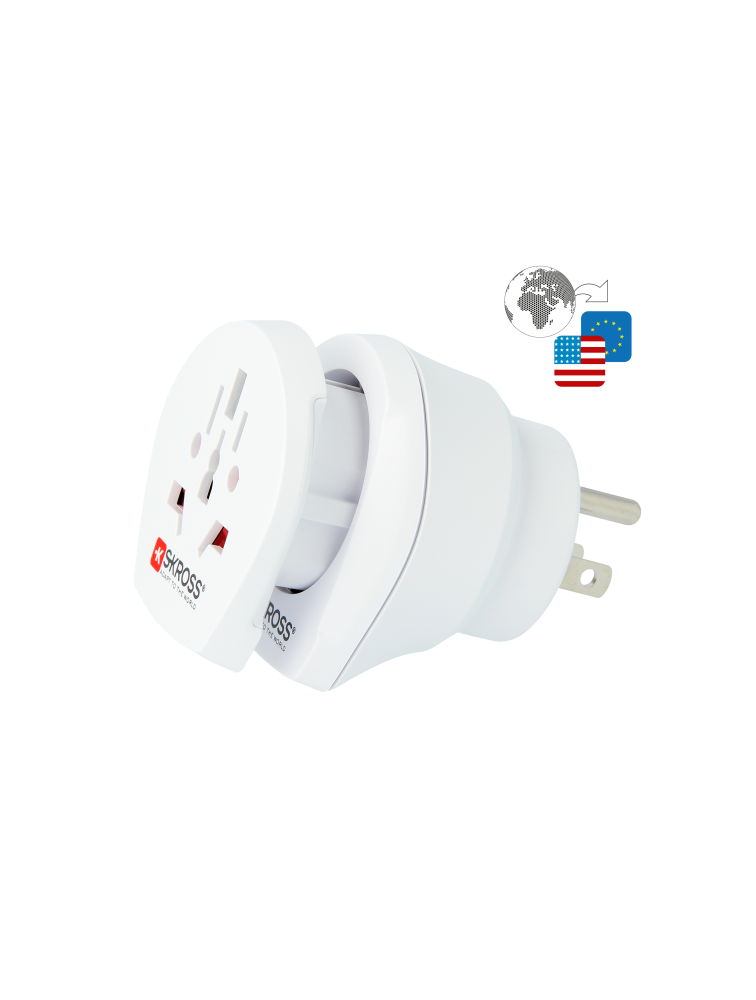 Länderreiseadapter Combo World to USA