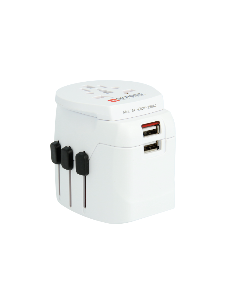 PRO Light USB - World, Weltreiseadapter, 3-Pol