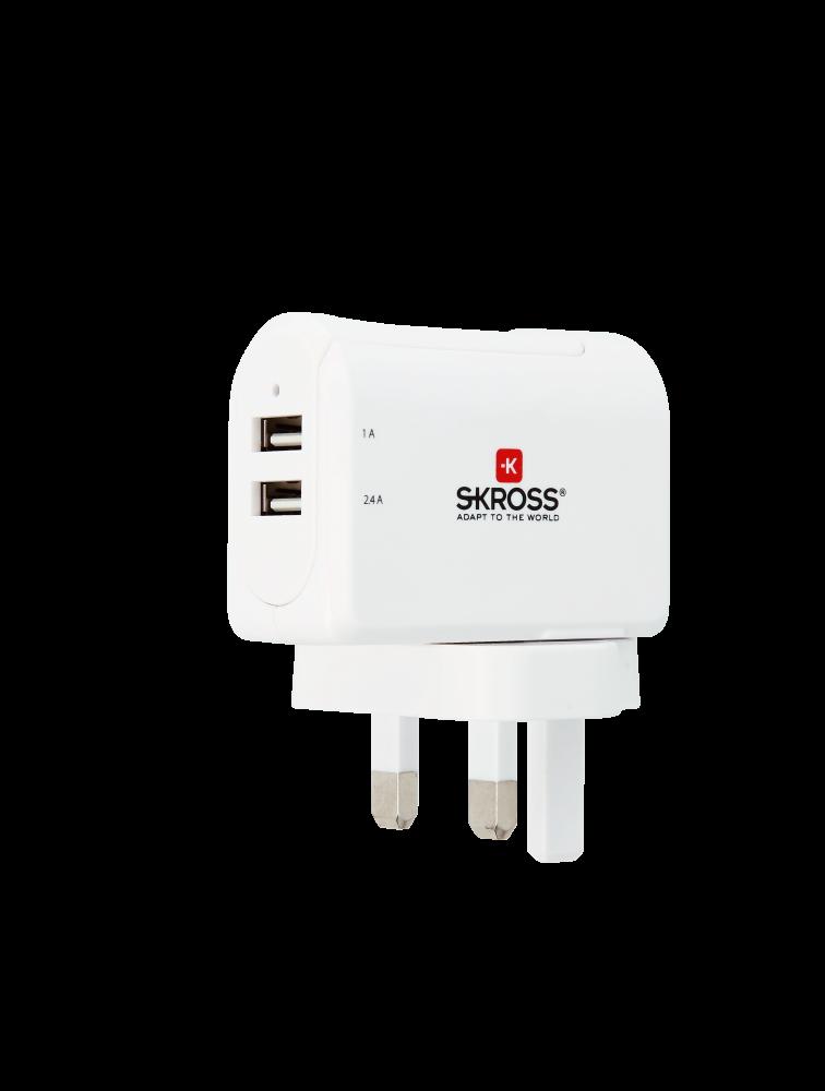 UK USB Charger - 2-Port, duales USB-Ladegerät