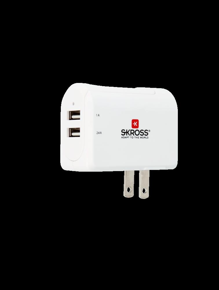 US USB Charger - 2-Port, duales USB-Ladegerät