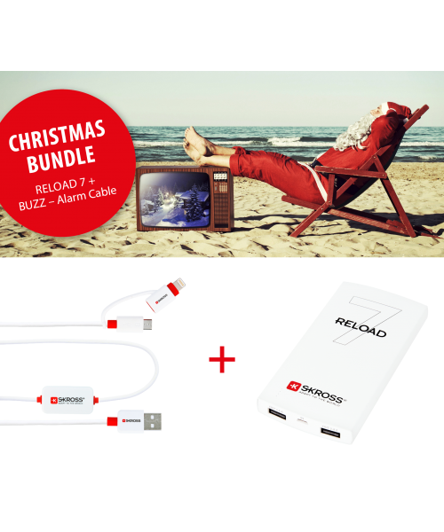 Grosses Weihnachts-Bundle: 2 x RELOAD 7 + 2 x BUZZ 2in1 - Alarm Cable + gratis Power Case + gratis Versand*