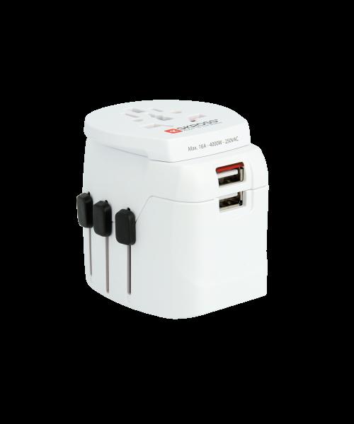 PRO Light USB - World, Weltreiseadapter, 3-Pol