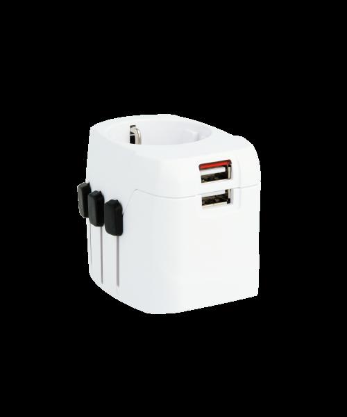 PRO Light USB, Weltreiseadapter, 3-Pol