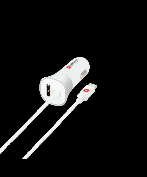 Auto-Ladegerät für den Zigarettenanzünder mit USB Type-C Kabel: USB Car Charger & USB Type-C
