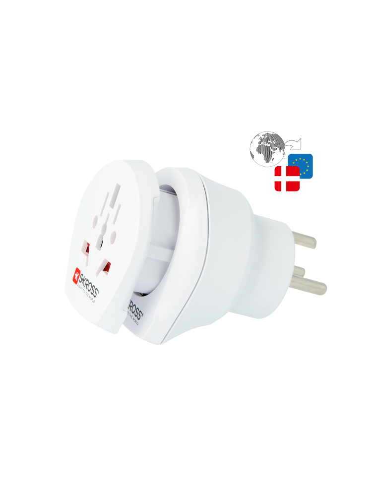 Länderreiseadapter Combo World to Denmark