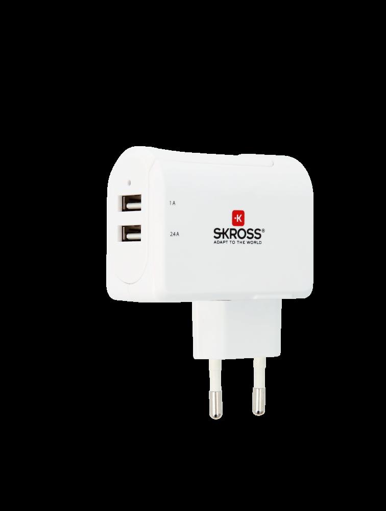 Euro USB Charger - 2-Port, USB-Ladegerät dual
