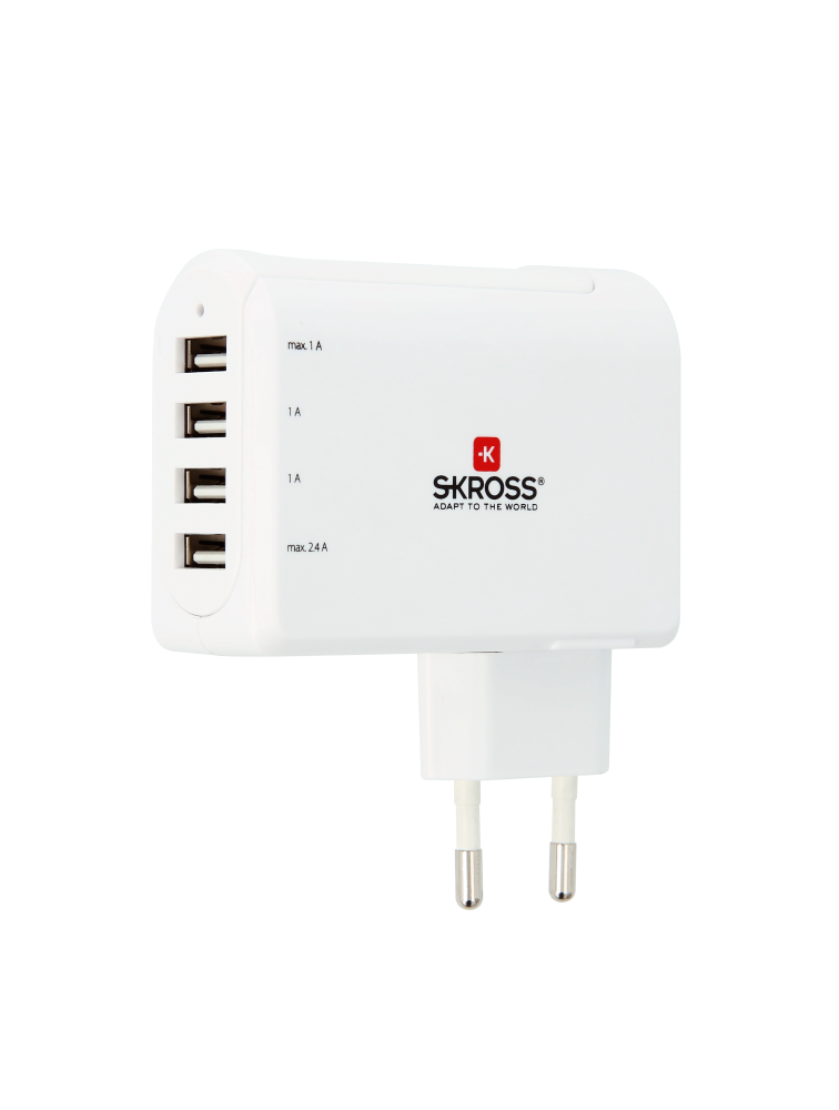 Euro USB Charger - 4 Port, USB-Ladegerät, vierfach