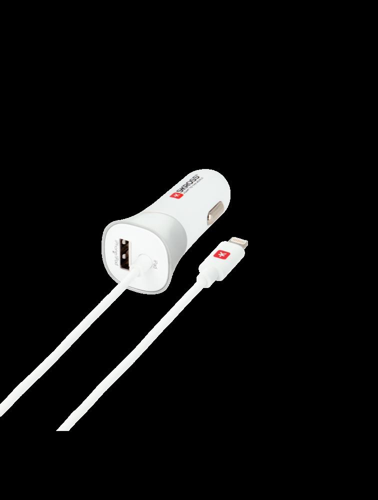 Auto-Ladegerät für den Zigarettenanzünder mit Lightning Connector Kabel: USB Car Charger & Lightning Connector
