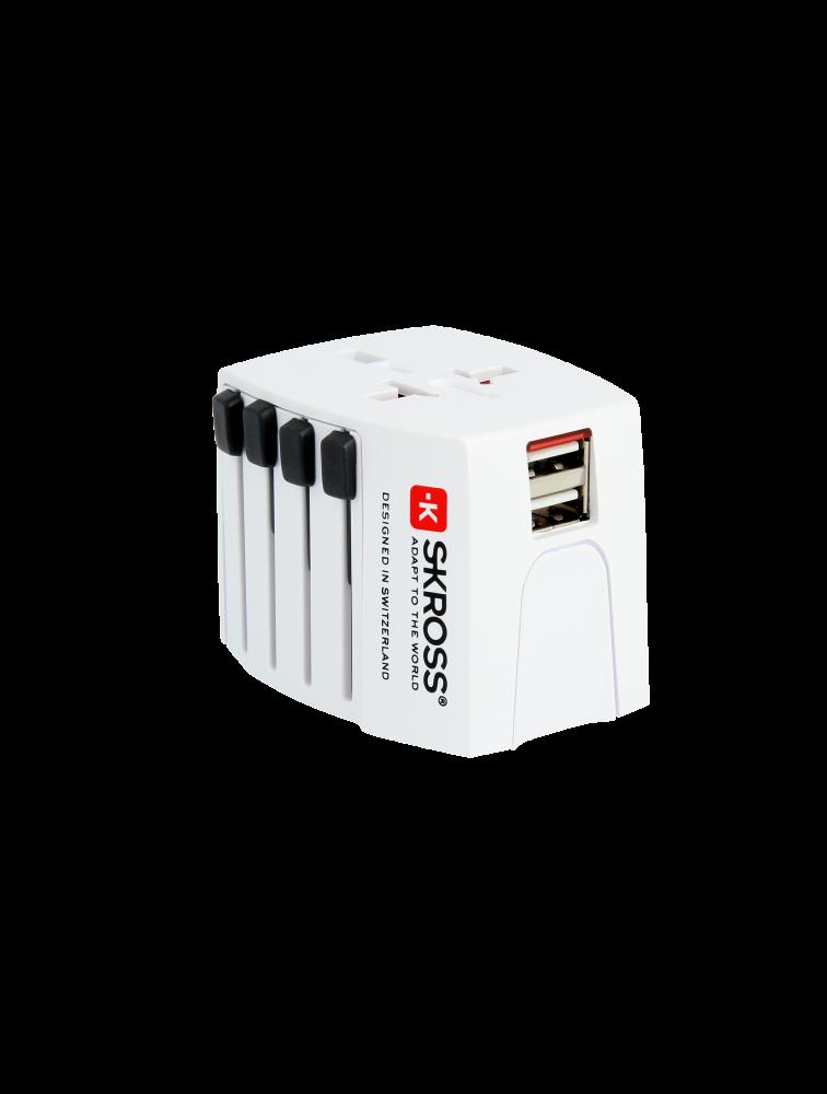 Weltreiseadapter MUV USB, 2-Pol, ungeerdet